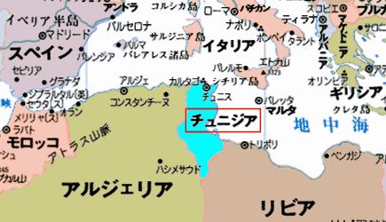 チュニジアの地図